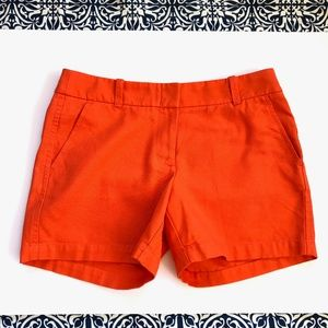 J. Crew Orange Shorts size 4